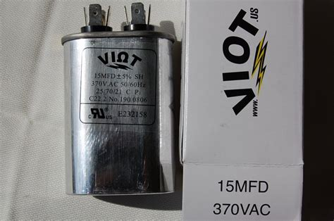 what size ac capacitor cap 15 ufdcompressor furnace blower fan motor start run capacitor oval 370v ul listed