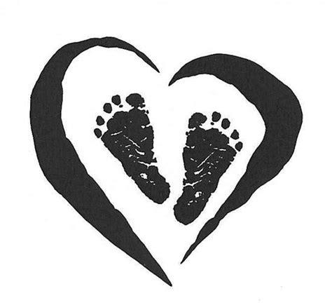 baby footprint heart quot tattoo quot handprint art pinterest