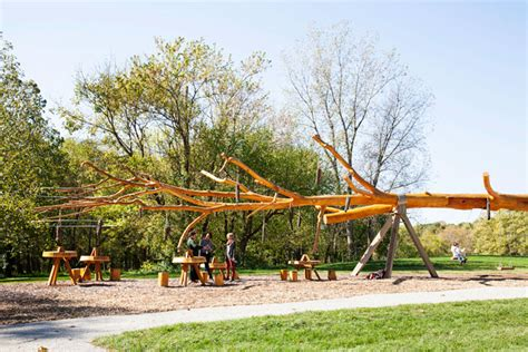 tree swing set chop stick visiondivision unveils swing set and visitor