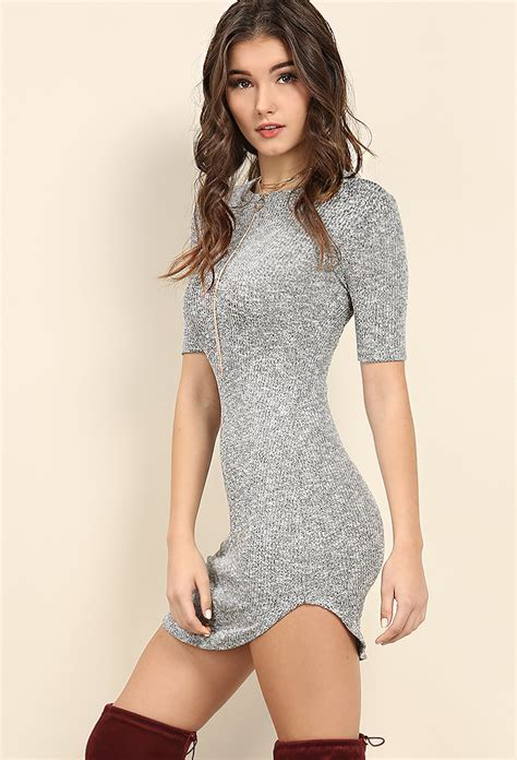 Mini Dress Knit 24 ribbed knit mini dress shop mini dresses at papaya clothing