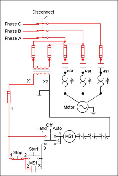 3 phase contactor wiring diagram hoa 3 phase current