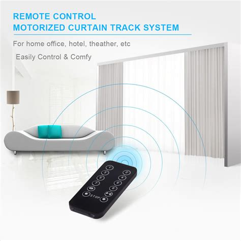 motorized curtain track system remote control motorized electric blinds curtain track