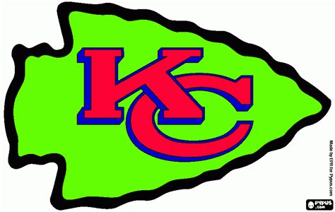 kc chiefs coloring pages