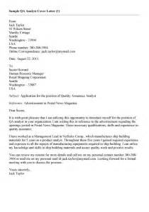 Cover Letter For Application For Quality Assurance Quality Analyst Resume Sales Quality Lewesmr
