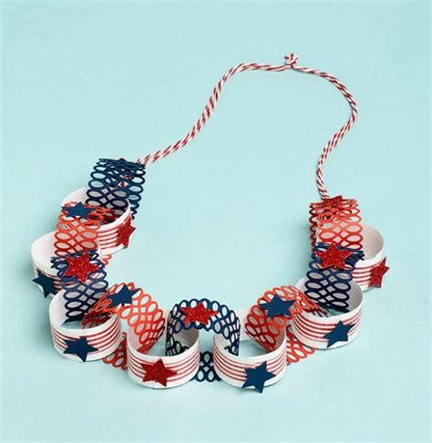 How To Make A Paper Necklace - 17 amazing last minute 4th of july decorations
