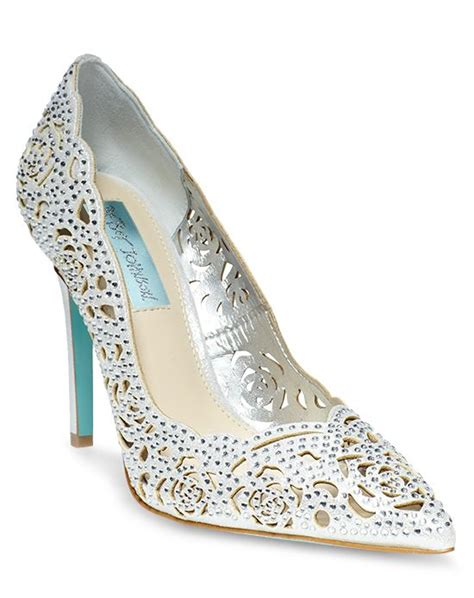 Wedding Shoes Betsey Johnson by Blue By Betsey Johnson Sb Elsa Silver Wedding Shoes The Knot