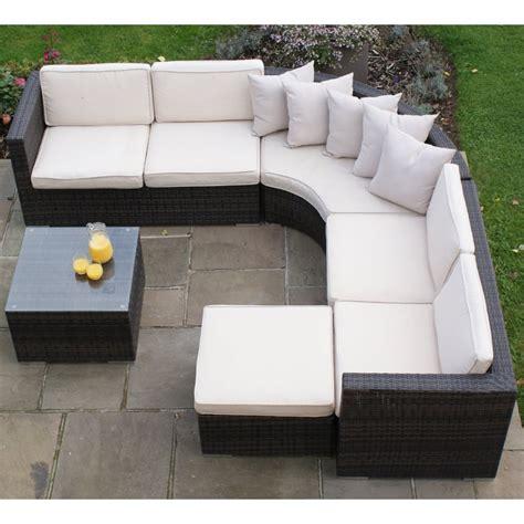 corner garden sofa sets maze rattan barcelona corner sofa set in pu rattan