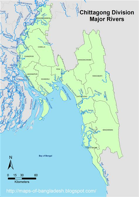 maps of rivers in bangladesh map chittagong