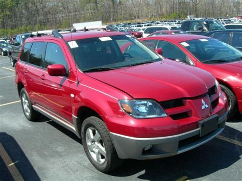 red mitsubishi outlander red 2003 mitsubishi outlander suv picture mitsubishi car
