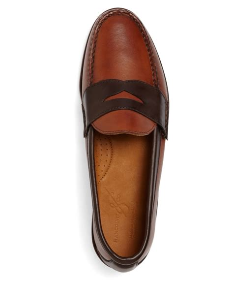 mens two tone loafers s rancourt and co two tone loafers