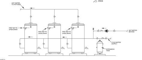 two water heaters plumbing diagram 2 water heaters tandem or series page 3 plumbing