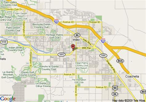 california map indio map of 8 motel indio indio