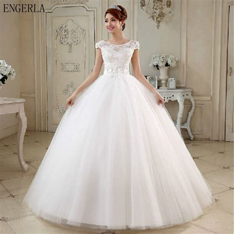 boat neck ball gown wedding dress aliexpress buy engerla bridal gowns 2017 new white