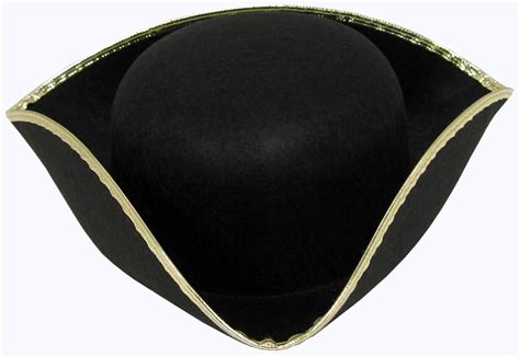 How To Make A Tricorn Hat Out Of Paper - black felt tricorn hat with gold trim ebay