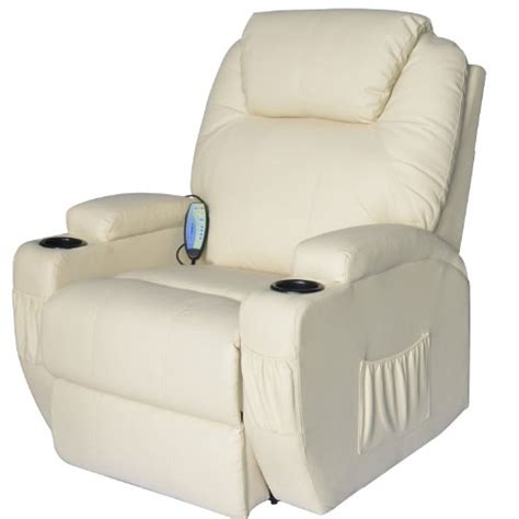 Recliner Heated Chair by Review Of Homcom Deluxe Heated Vibrating Pu Leather