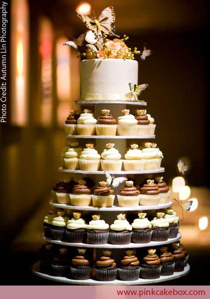Cup Cake Wedding Cake by Wedding Cupcake Stands 187 Pink Cake Box Custom Cakes More