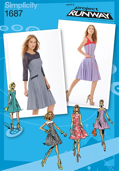 pattern runway dress simplicity 1687 misses miss petite dress project runway