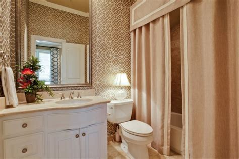 custom bathroom shower curtains create a cozy modern bathroom on a budget