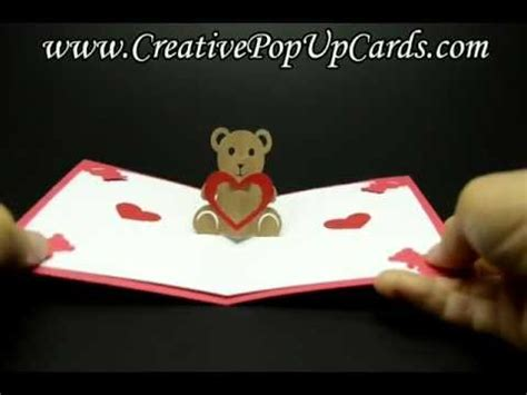 teddy bear pop up card template