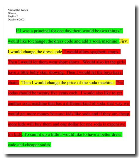 write in color expository writing students underline or highlight using