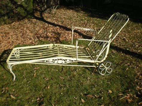 vintage wrought iron chaise lounge vintage iron chaise lounge vintage lawn furniture
