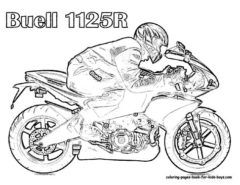 motorcycle coloring pages    print