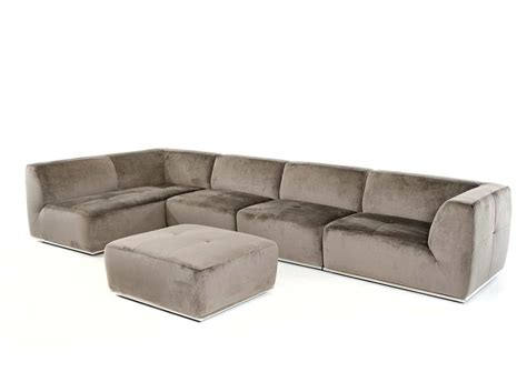 Contemporary Sectionals Sofas Contemporary Grey Fabric Sectional Sofa Vg389 Fabric