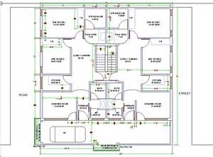 House design for two families autocad d cad model grabcad