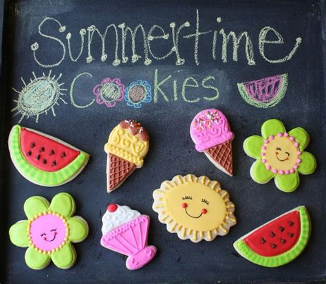 Summer Cookie Decorating Ideas by 147 Best Images About Summer Cookies On Summer Picnic Summer Cookies And Cookie