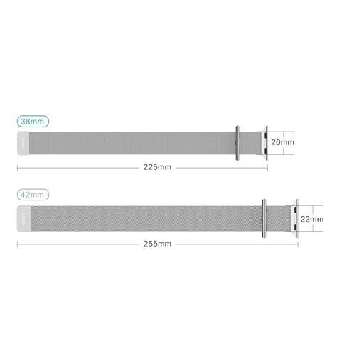 New Apple Hoco Milanese Loop Silver 1 hoco milanese loop band apple 38mm silver
