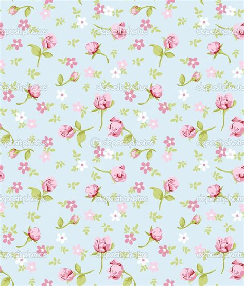Vintage Flowers Pattern vintage flower seamless pattern background stock vector