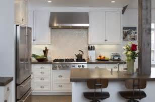 gray countertops transitional kitchen artistic
