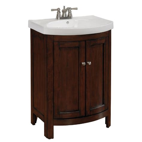 Lowes Bathroom Vanity Sinks Shop Allen Roth Moravia Integrated Single Sink Bathroom Vanity With Vitreous China Top