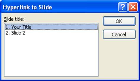 tutorial hyperlink powerpoint 2007 create a hyperlink to another presentation hyperlink