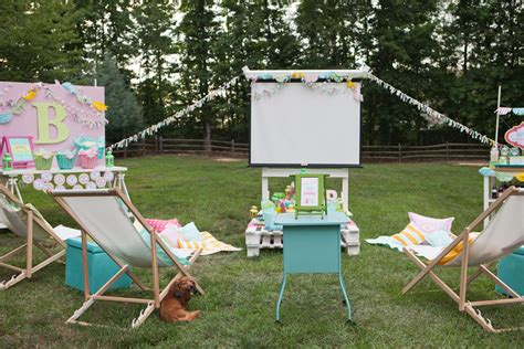 ikea birthday party outdoor movie night featuring ikea