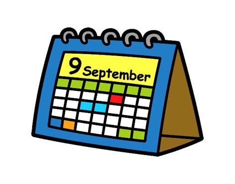 Año 0 Calendario Dibujo De Calendario De Mesa Pintado Por En Dibujos Net El