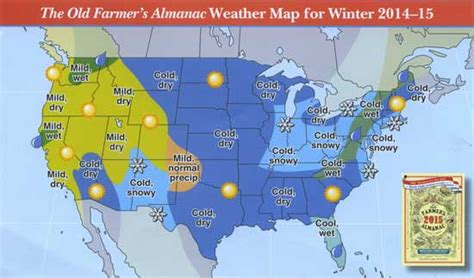 winter weather predictions 2014 2015 from the old farmer s the old farmer s almanac 2015 weather predictions arrows