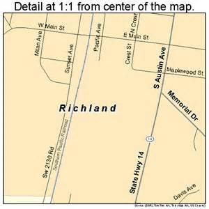 richland texas street map 4861820