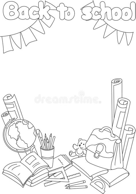 coloring book paper stock back to school coloring book educational background with