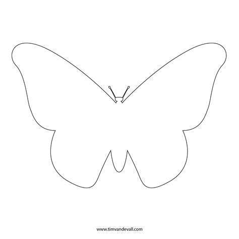template of butterfly to print free butterfly stencil monarch butterfly outline and silhouette
