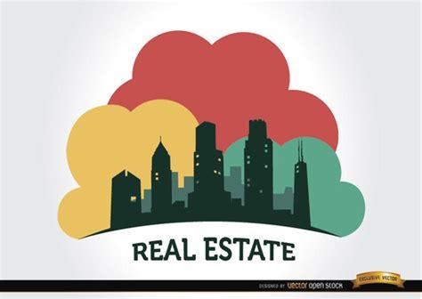 real estate real estate logo buildings vector free