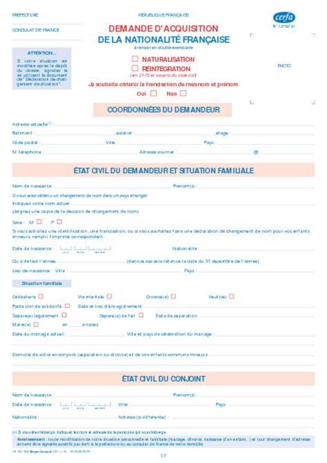 Exemple Lettre De Demande De Naturalisation Demande D Acquisition De La Nationalit 233 Fran 231 Aise Par Naturalisation Ou R 233 Int 233 Gration