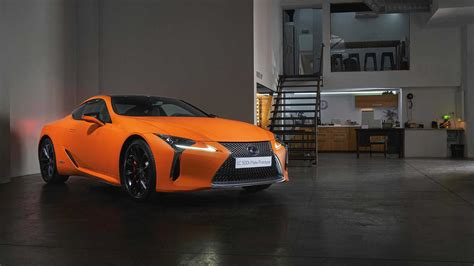 lexus lc  matte orange prototype bursts  barcelona