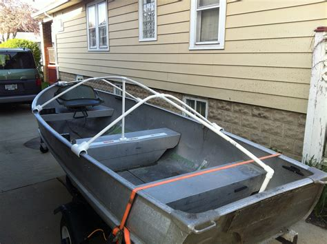 pontoon cover support diy vwvortex diy boat cover or tarp support