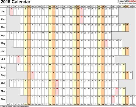 2019 Calendar Download 17 Free Printable Excel Templates Xlsx 2019 Calendar Template Excel