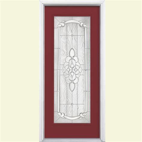 Fiberglass Exterior Doors Home Depot Masonite 36 In X 80 In Oakville Lite Painted Smooth Fiberglass Prehung Front Door With