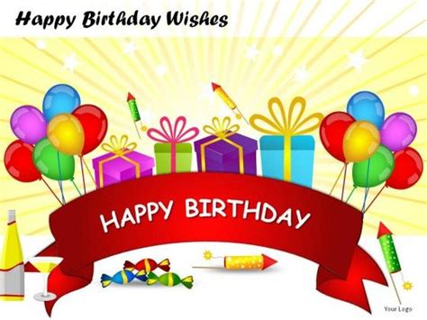 Happy Birthday Wishes Powerpoint Presentation Slides Happy Birthday Ppt Template
