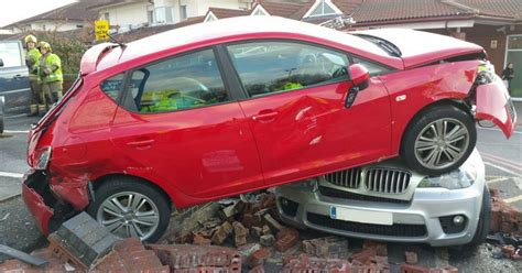 bmw hospital car left on top of bmw after driver taken ill in hospital