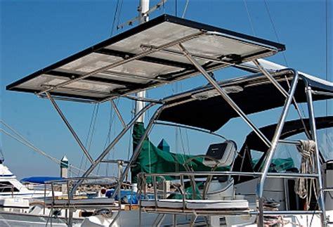 catamaran davit design solar power installation on sailboat groovy