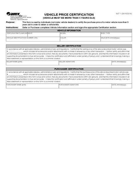 virginia bill of sale form free templates in pdf word